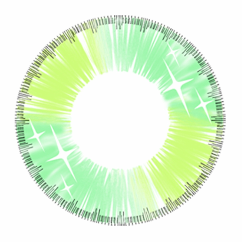 Soft Cosmetic Colored Contact Lenses Neon Colour Fairy Cosplay (Green)