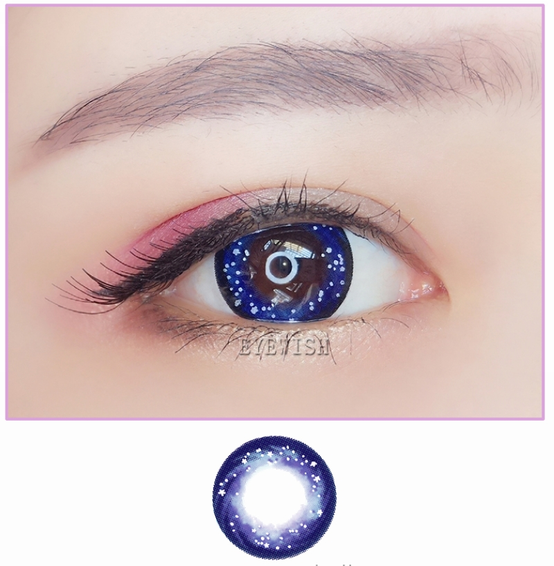 Soft Colored Contact Lenses Beautiful Night Stars Deep Blue
