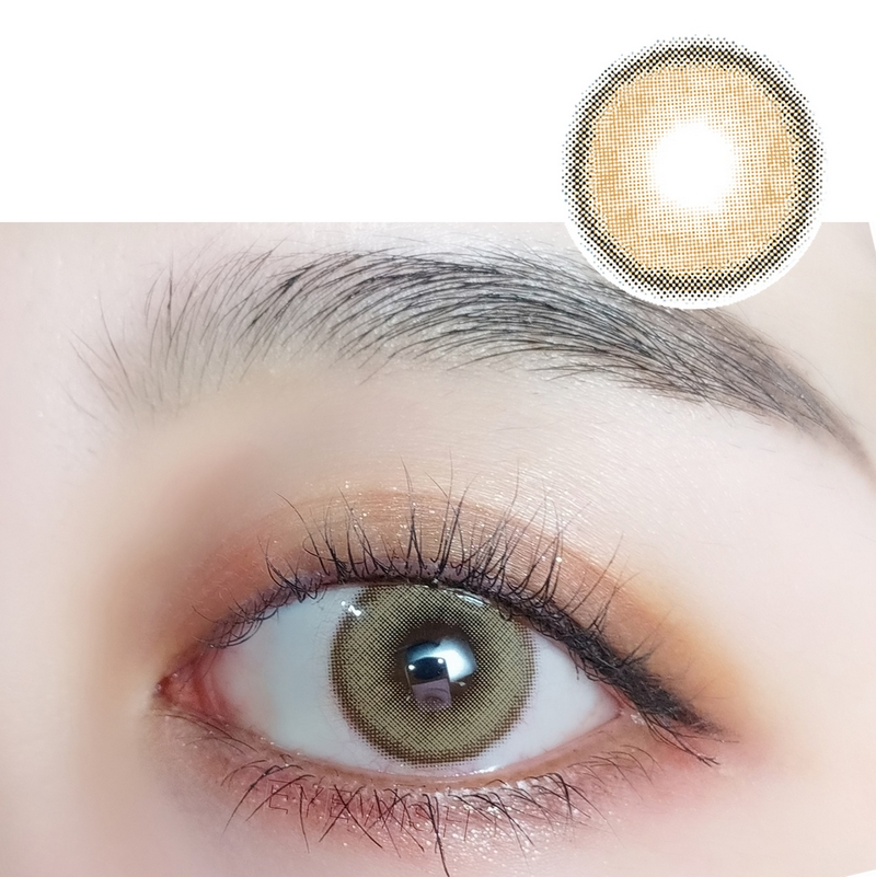 Naturally Coloured Eye Contacts Morning Fog Beige Brown