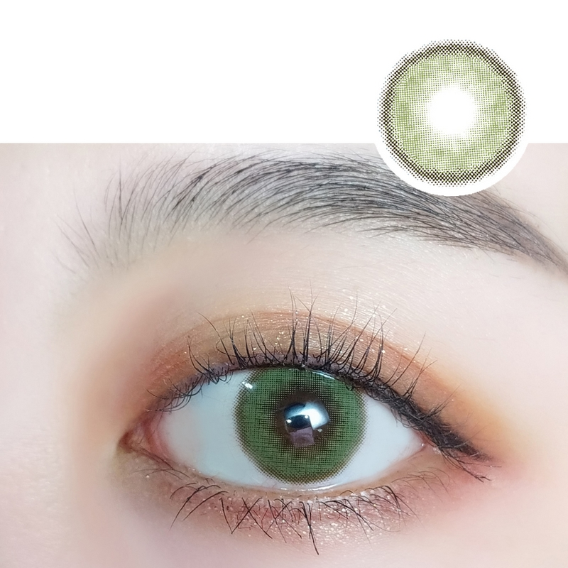 Cheap Prescription Color Contacts Morning Fog Light Green