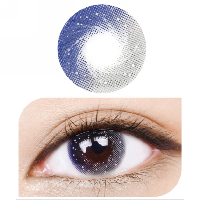 Beautiful Daily Wear Colored Contact Lense Milky Way Grey