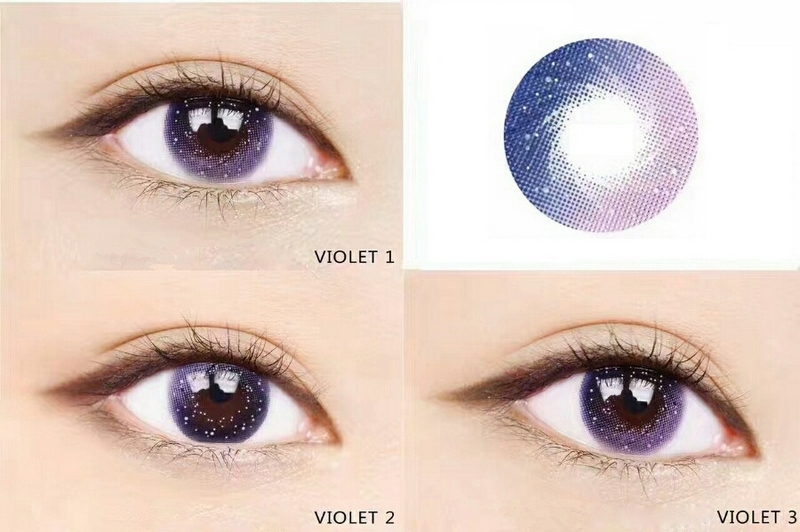 Sparkling Stars Colored Contact Lense Milky Way Purple