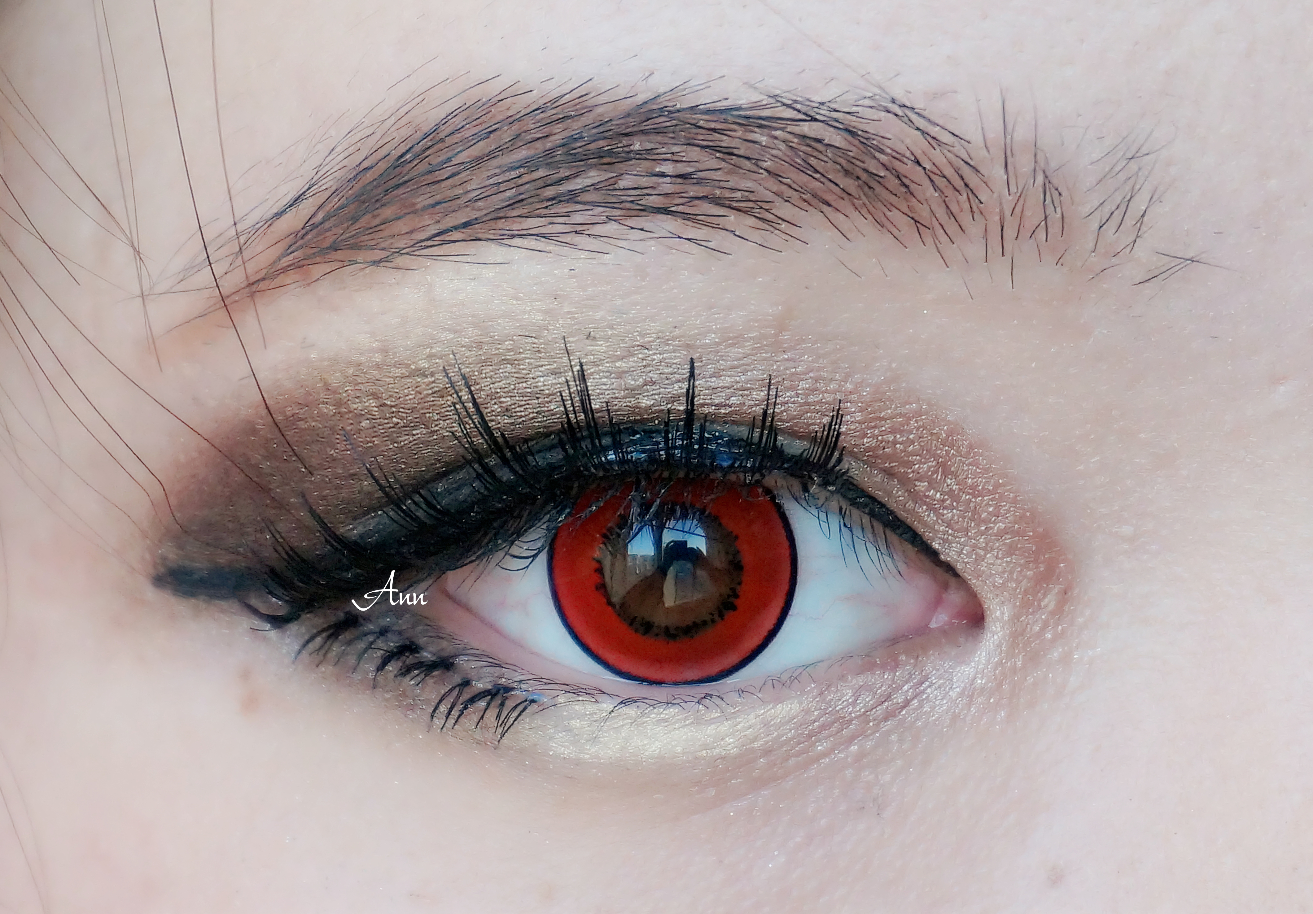 Cosmetic Colored Contact Lenses Harajuku Storm Halloween (Red)