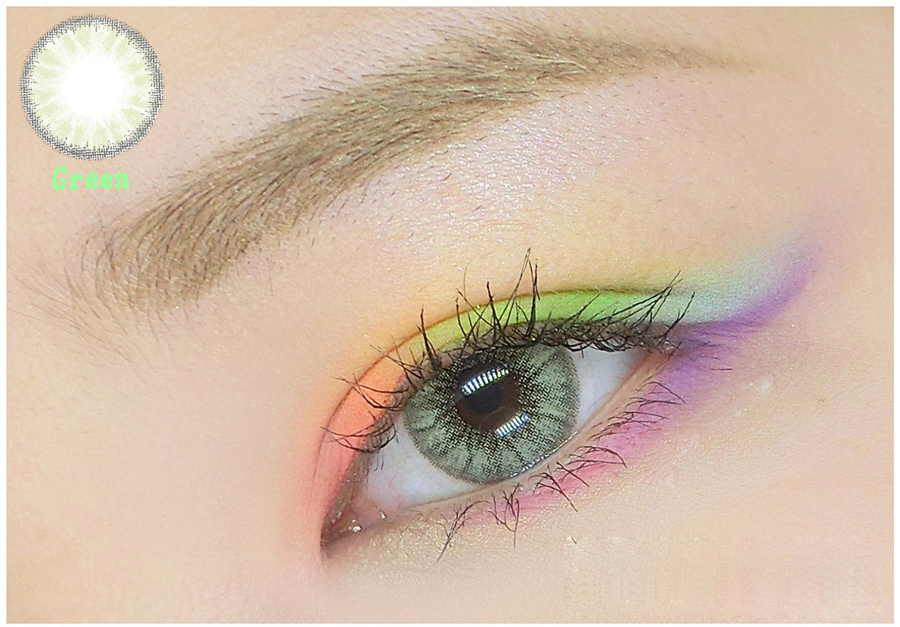 Cosmetic Colored Contact Lenses Glassmarble Glass Crystal Ball Style (Green)